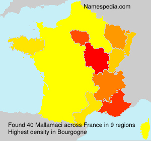 Surname Mallamaci in France