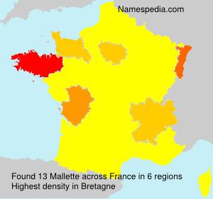 Familiennamen Mallette - France