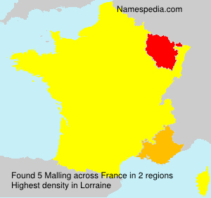 Surname Malling in France