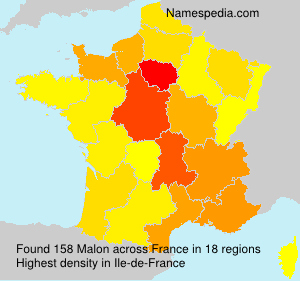 Surname Malon in France