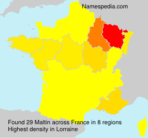 Familiennamen Maltin - France