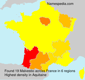 Surname Malvestio in France