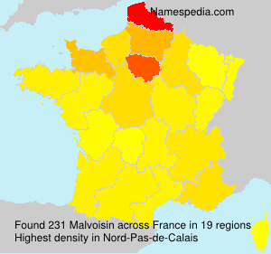 Surname Malvoisin in France