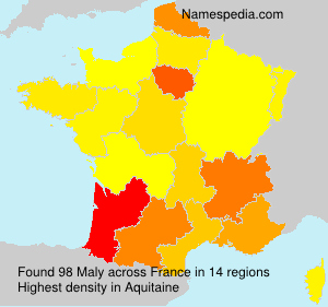 Surname Maly in France