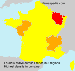 Surname Malyk in France