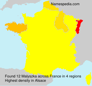 Surname Malyszka in France