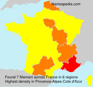 Surname Mamani in France