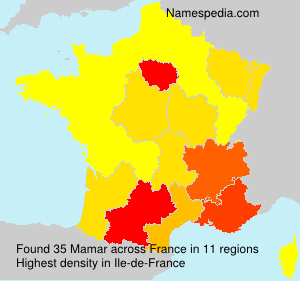 Familiennamen Mamar - France