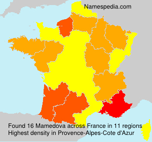 Surname Mamedova in France