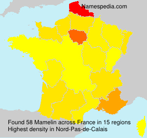 Surname Mamelin in France