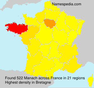 Surname Manach in France