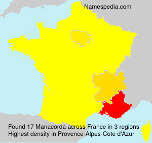 Surname Manacorda in France