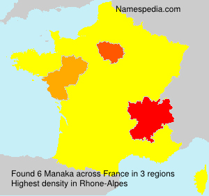 Surname Manaka in France