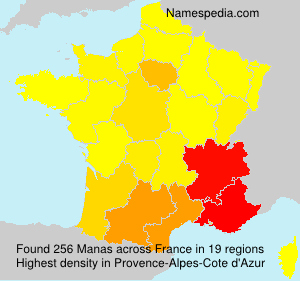 Surname Manas in France