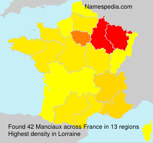 Surname Manciaux in France