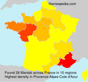 Surname Mandal in France