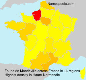 Surname Mandeville in France