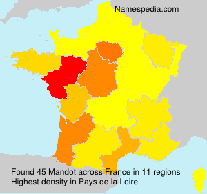 Surname Mandot in France