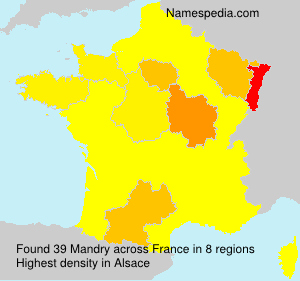 Surname Mandry in France