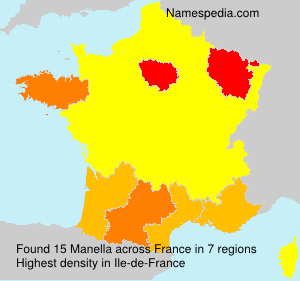 Surname Manella in France