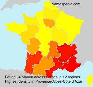 Surname Manen in France