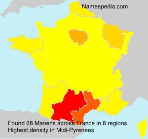 Surname Manens in France
