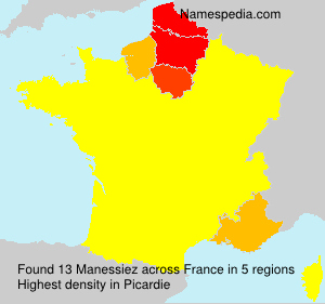 Surname Manessiez in France