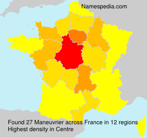 Surname Maneuvrier in France
