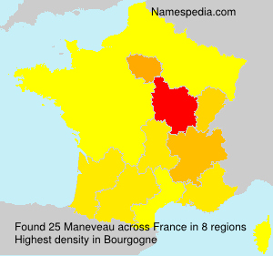 Surname Maneveau in France
