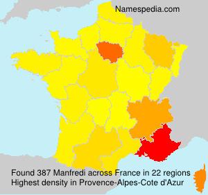 Surname Manfredi in France