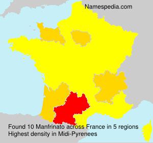 Surname Manfrinato in France
