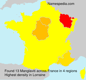 Surname Manglaviti in France