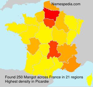 Surname Mangot in France