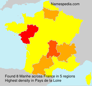 Surname Manhe in France