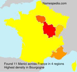Surname Manici in France