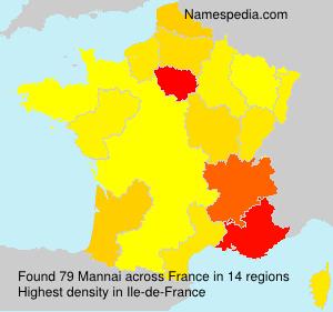 Surname Mannai in France
