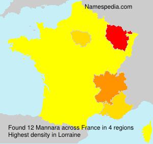 Surname Mannara in France