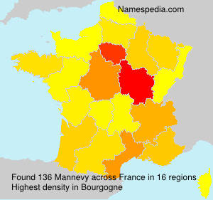 Surname Mannevy in France