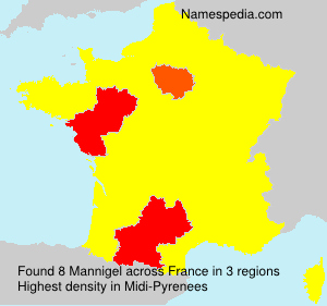 Surname Mannigel in France