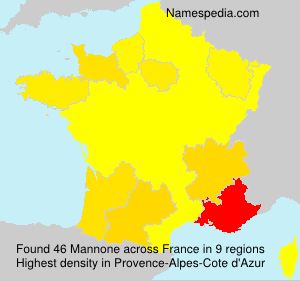 Surname Mannone in France