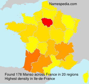 Surname Manso in France