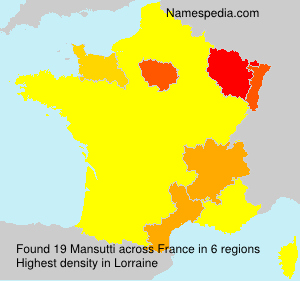 Surname Mansutti in France