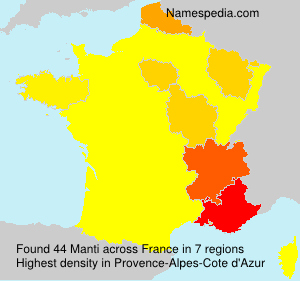 Surname Manti in France