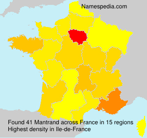 Surname Mantrand in France