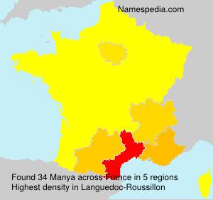 Surname Manya in France