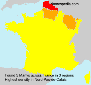 Surname Manys in France