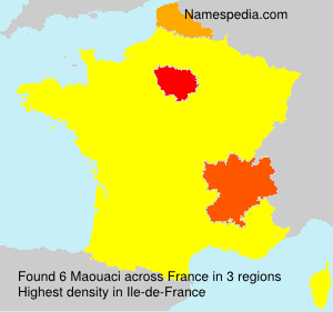 Surname Maouaci in France