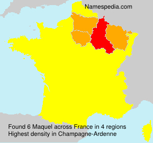 Surname Maquel in France
