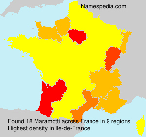 Surname Maramotti in France