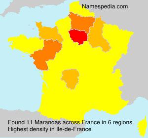 Familiennamen Marandas - France